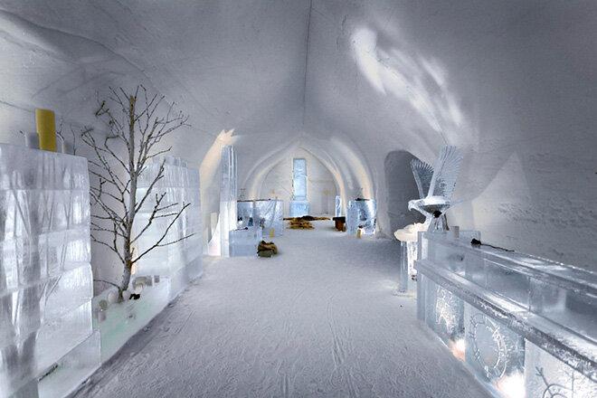 Ледяной отель (LumiLinn SnowCastle) в Финляндии