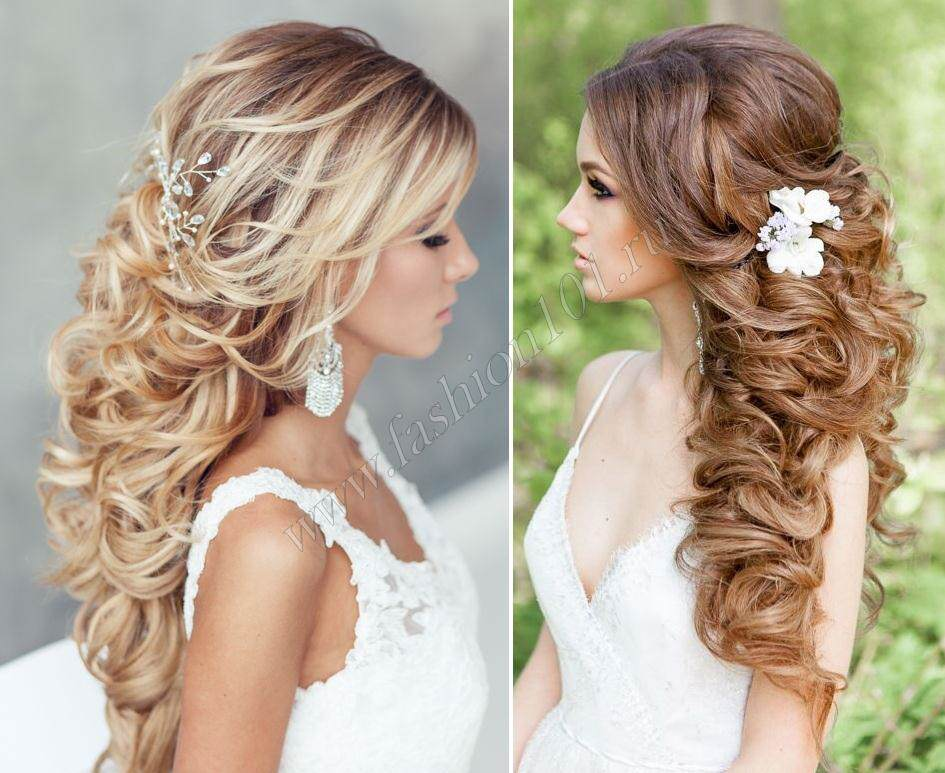 Красивая прическа длинные волосы фото