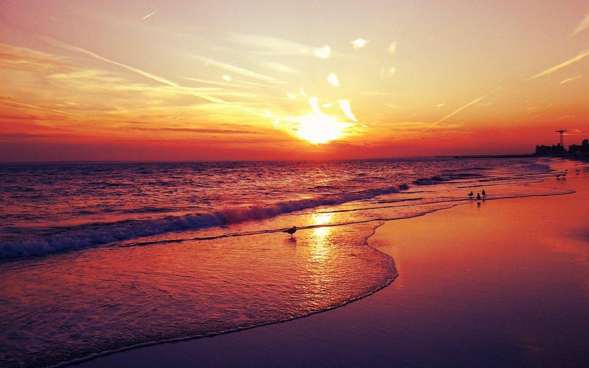Картинки, открытки закат солнца на море