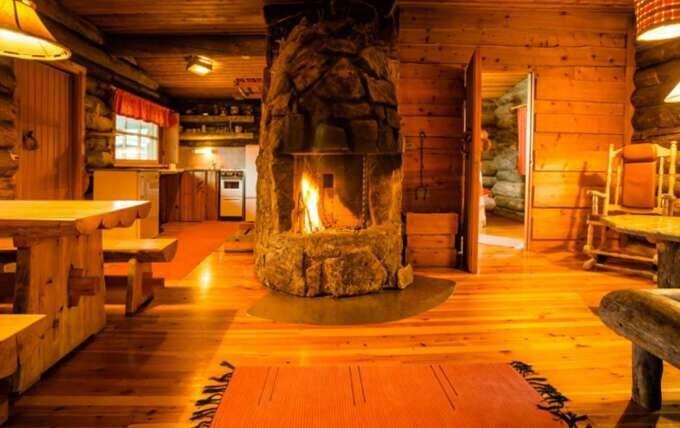 деревяный отель в Лапландии