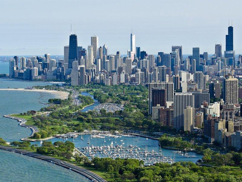 Чикаго, вид сверху