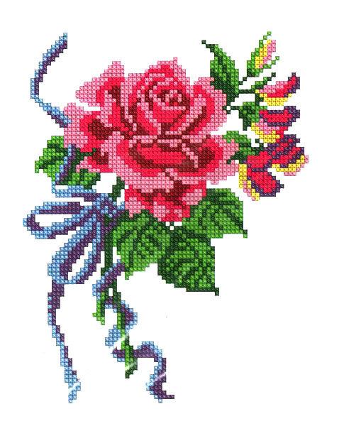 Схема цветка для вышивки крестом.