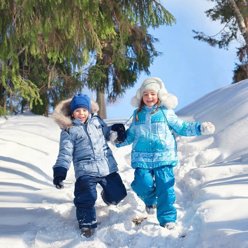 Картинки дети зима, рисунок