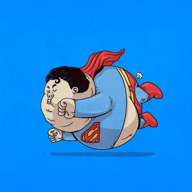 Прикольная картинка супергерои, анимация прекрасного дня