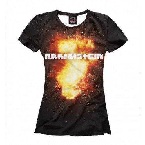 Женская футболка 3D Rammstein