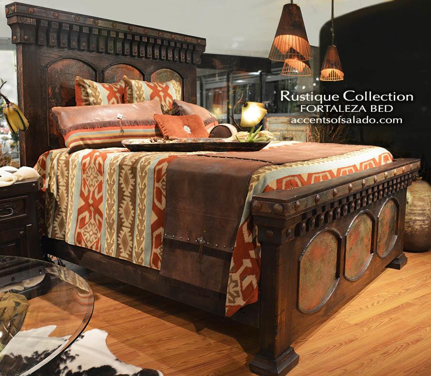 Rustique old world bedroom furniture tuscan style bedroom - Southwest style bedroom furniture ...