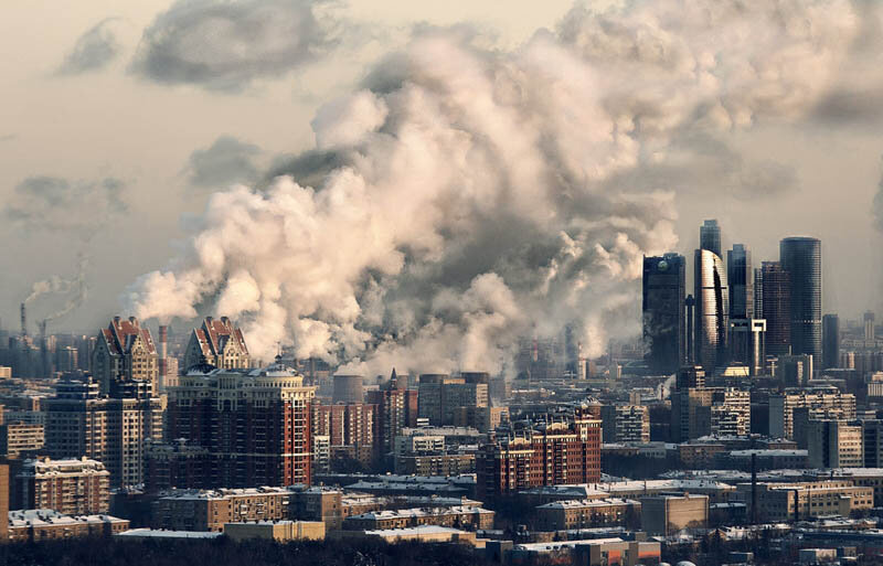 пейзажи городской застройки мегаполисов..