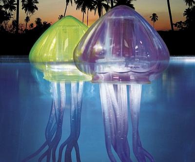 Подводные светильники также делятся на различные виды по своему устройству и назначению...Плавающие...Контурные...Подвесные...Накладные...Встраиваемые...