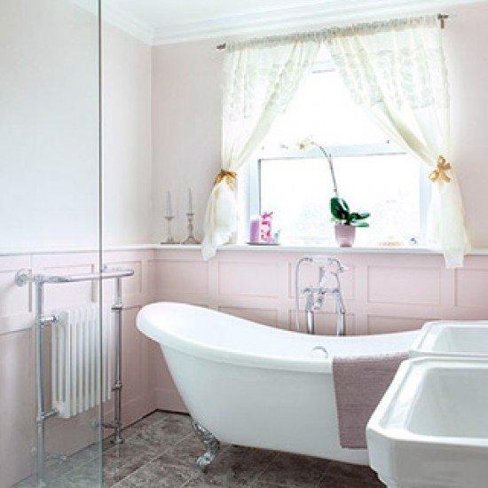 Ванная в стиле шебби шик - свет и красота