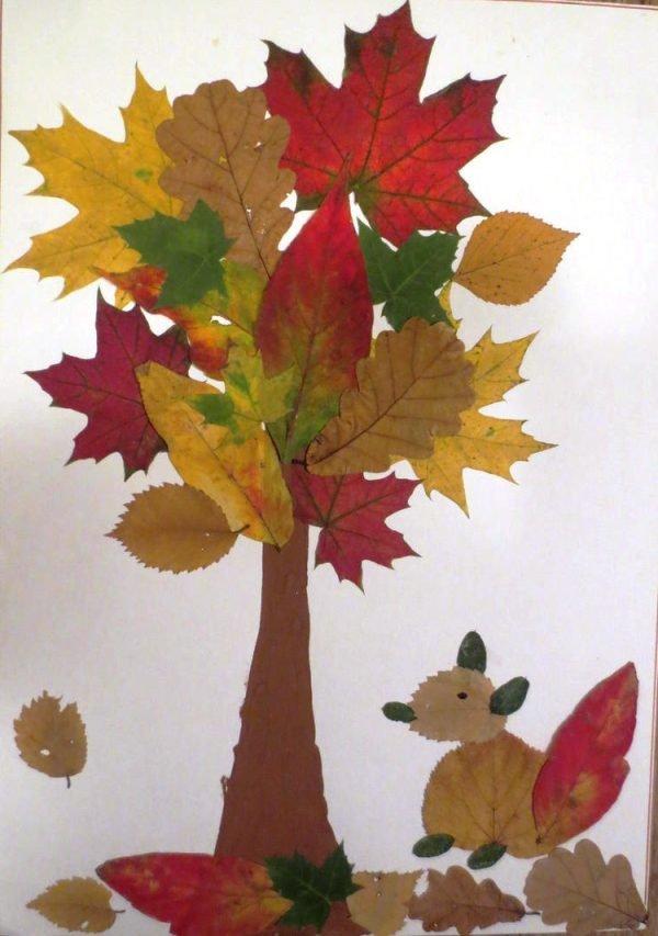 Картинки осень аппликация для детей, точками
