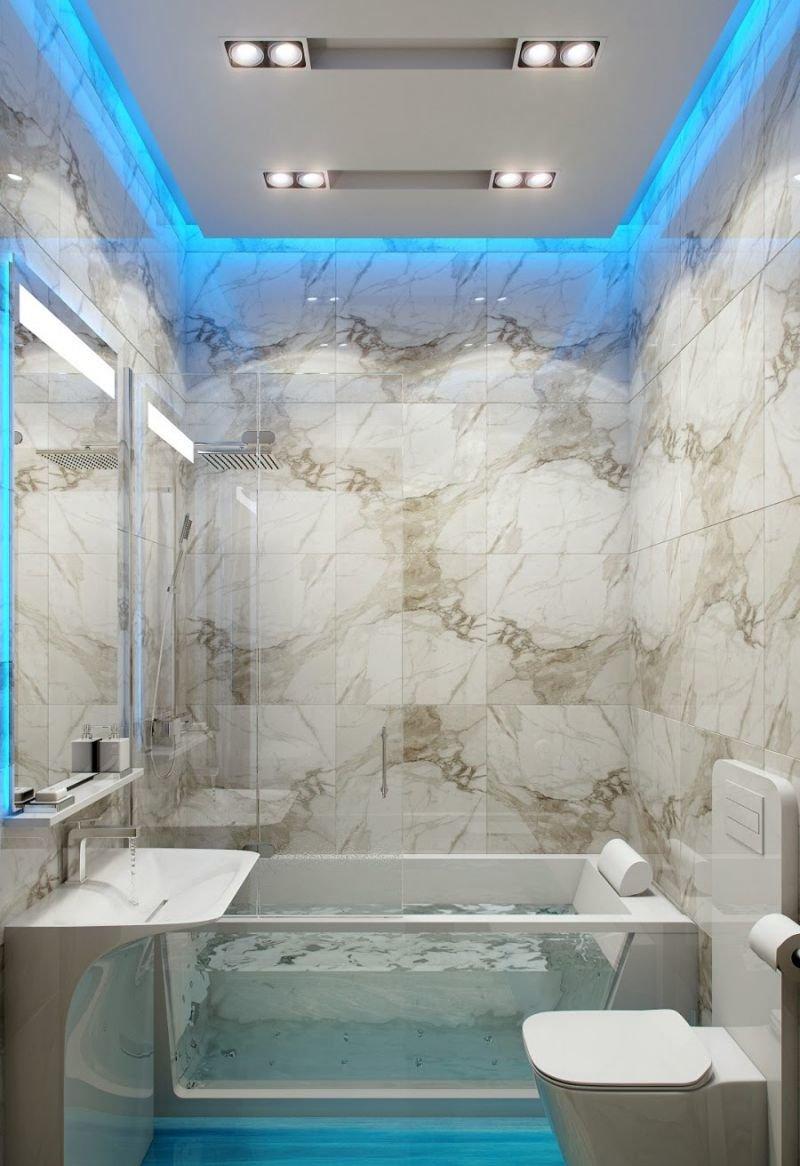 Яркая подсветка в ванной это просто незаменимая вещь! фото