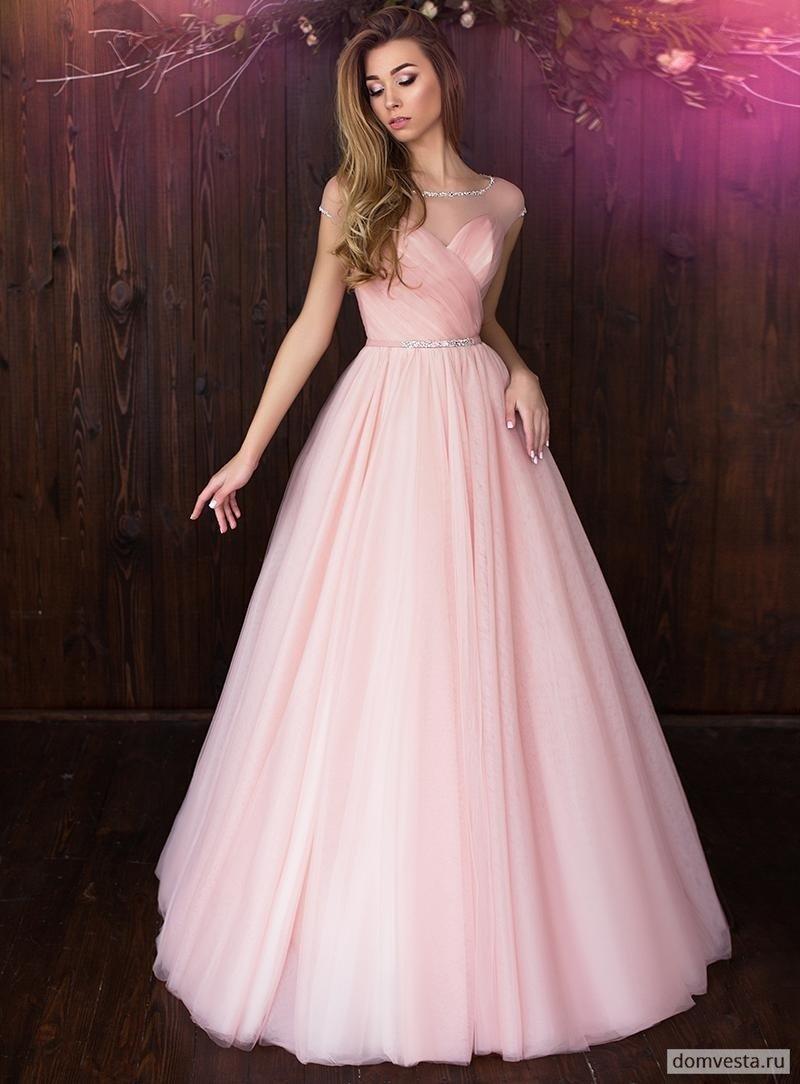 нежно розовое вечернее платье с пышной юбкой в пол» — картка ... 65411eacdaa