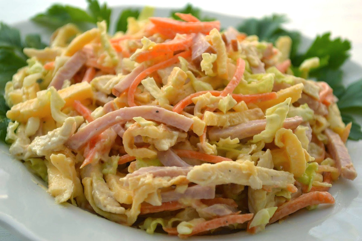 рецепт салат из пекинской капусты