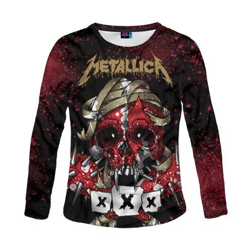 Женский лонгслив 3D Metallica