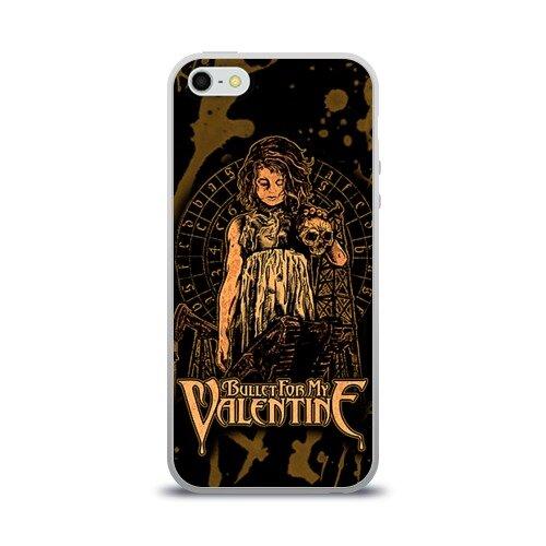 Чехол силиконовый для Телефон Apple iPhone 5/5S Bullet for my valentine