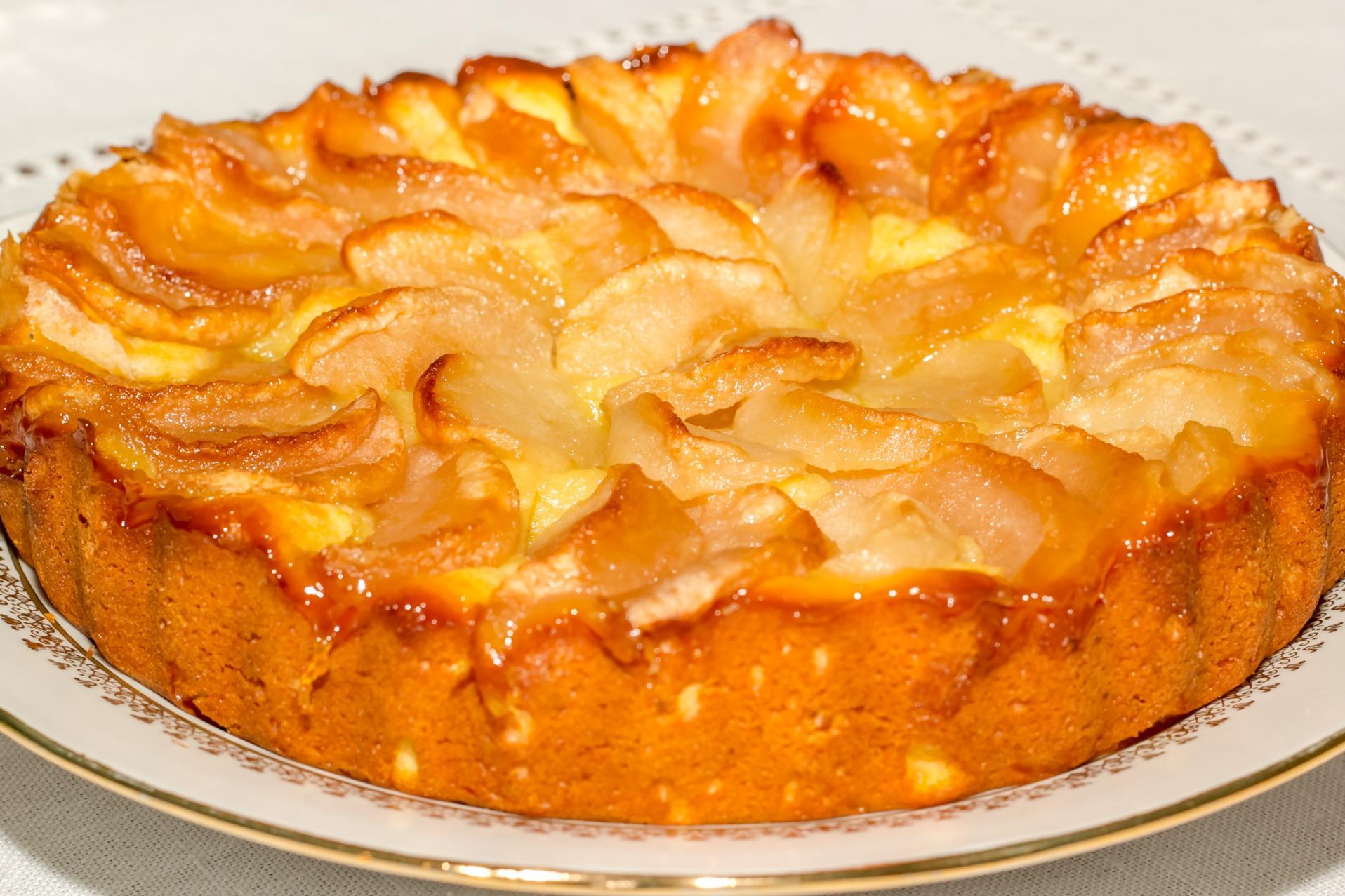 рецепт пирога со сметаной и яблоками