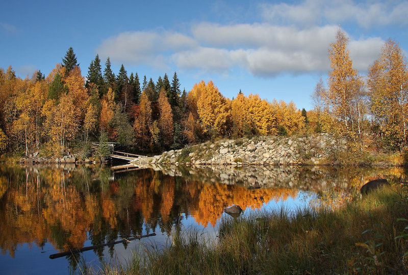 Карелия-природа осенью