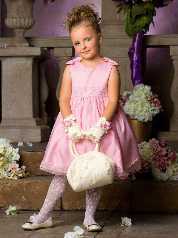 Атласное платье для девочки