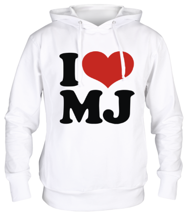 Толстовка унисекс I Love MJ