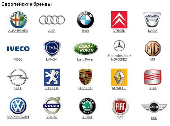 Все марки машин и их названия картинки