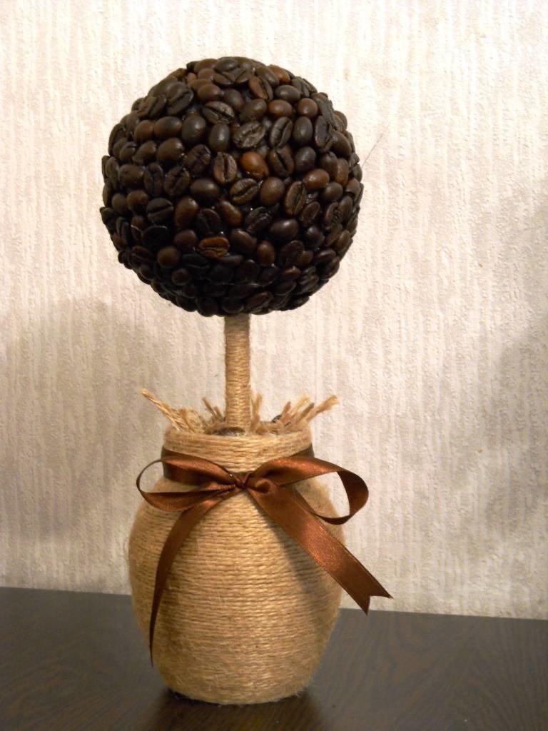 поделка из зерна кофе создания плавных переходов