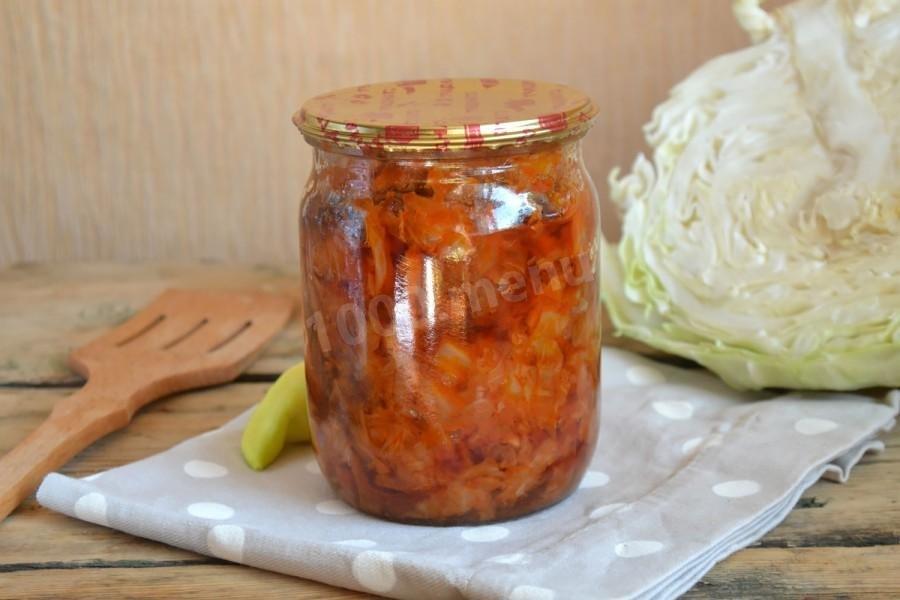 рецепты капусты на зиму солянка