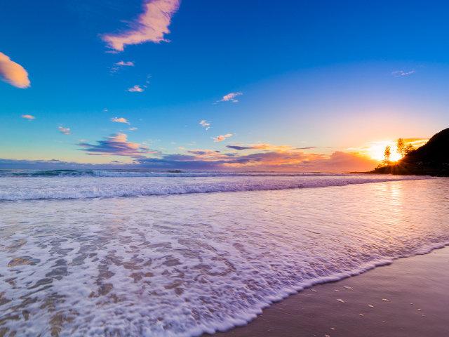 Красивый рассвет в Австралии.