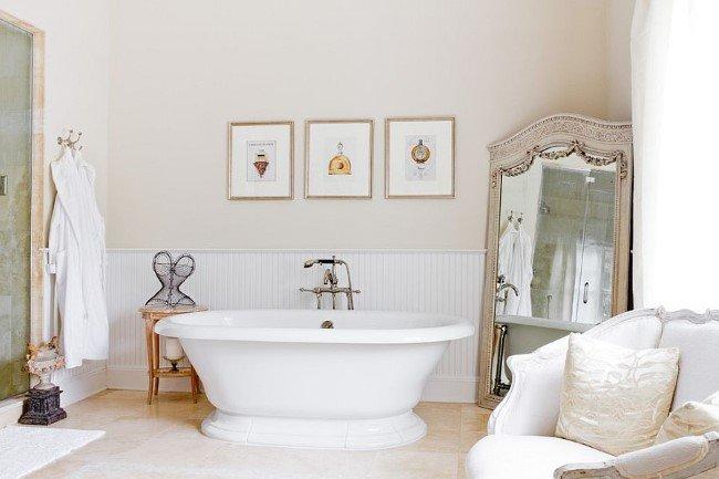 Ванна для ванной комнаты в стиле шебби шик.