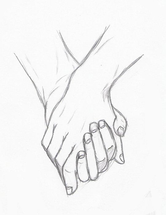 картинки рука в руке карандашом