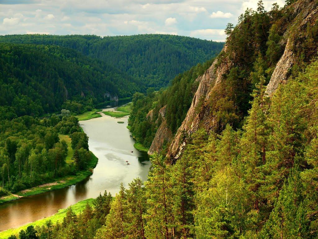 Река Белая с высоты в Бурзянском районе