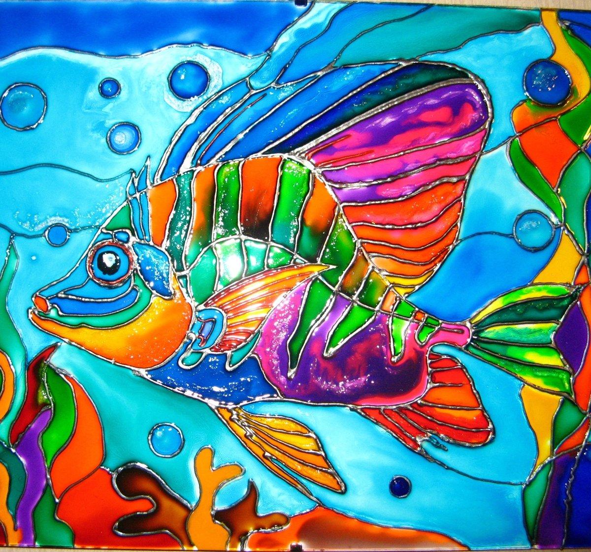 дома, картинки с рыбками витраж сайдинг