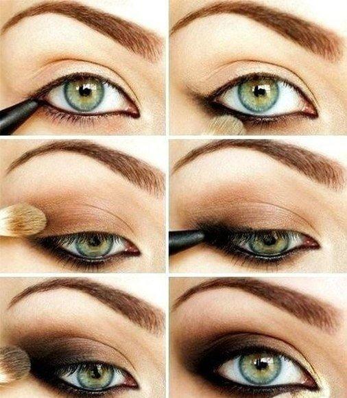 Макияж зеленых глаз для начинающих пошагово фото