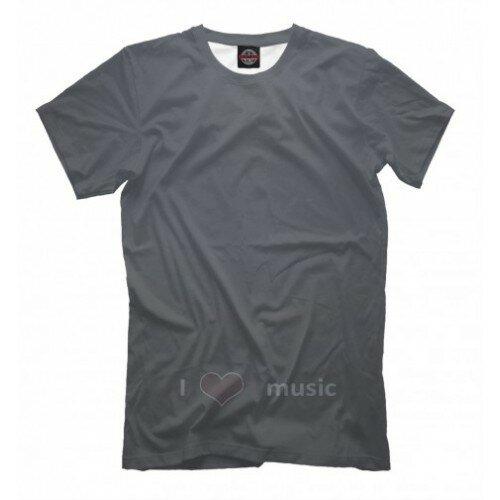 Мужская футболка 3D I Love Music