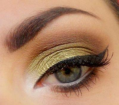Повседневный макияж для зелено карих глаз