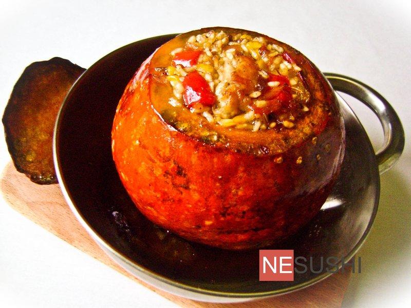 Рецепт запекания тыквы в духовке целиком