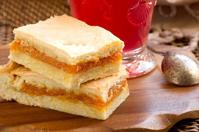 Пирог с курагой татарский