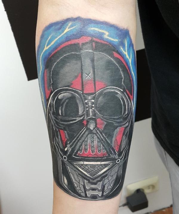 Нью скул татуировка  Дарт Вейдер