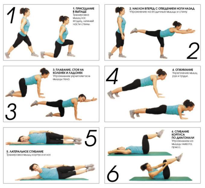 Упражнения для ног и живота