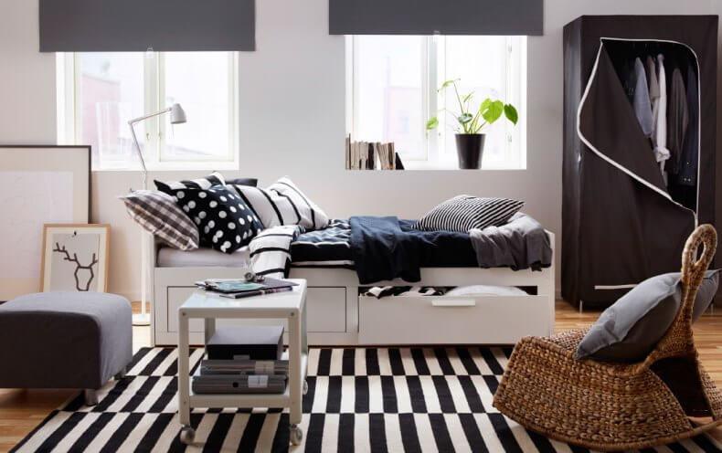 Белая мебель икеа в интерьере фото