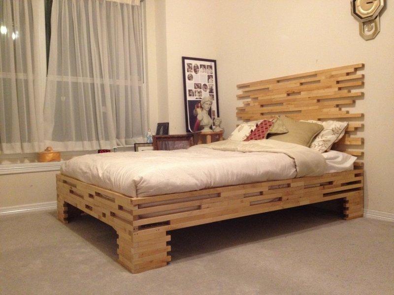 Изголовье кровати из дерева своими руками фото