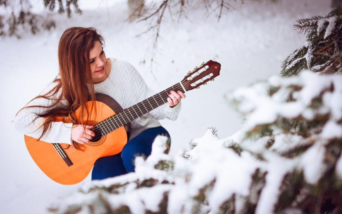 Снежная музыка в картинках