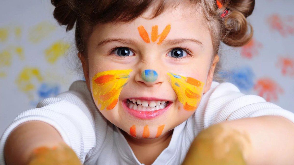 Веселые детские рисунки и фото, открытки днем