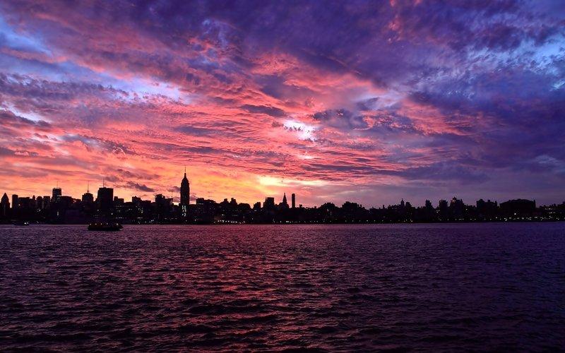 красивый закат в городеклассненько