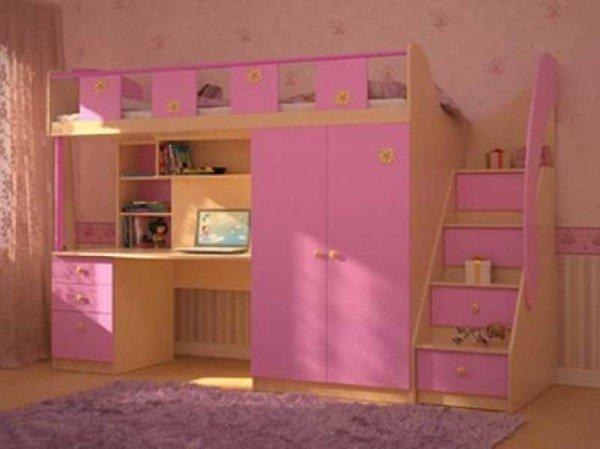 Способ рационального использвоания места - детская кровать чердак.