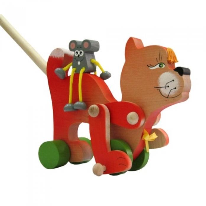 """Деревянная каталка """"Храбрый мышонок"""" купить в интернет-магаз"""