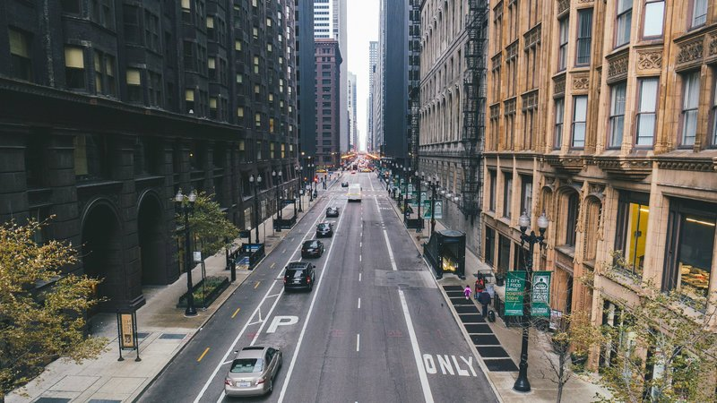 Улица в городе Чикаго Обои для рабочего стола 1440x900