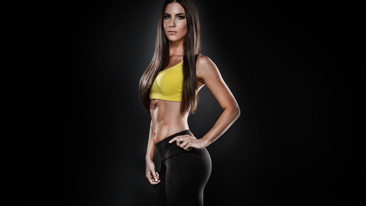 women face brunettes long hair fitness model flat belly 1920x1080