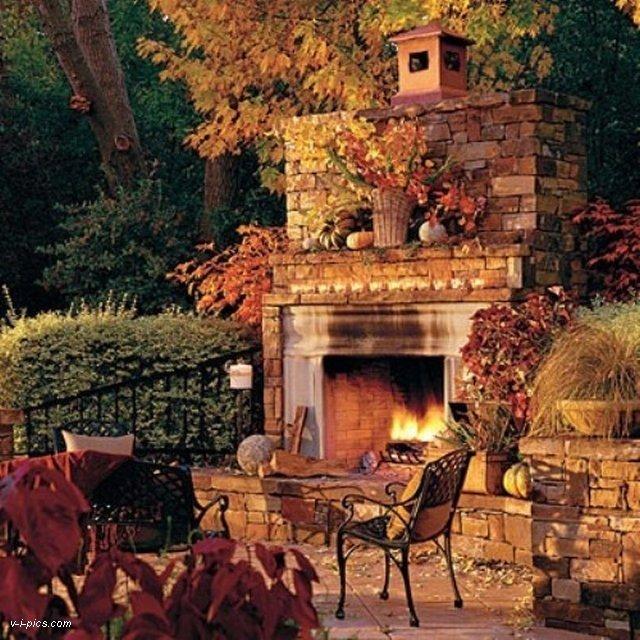 менты картинки про осень красивые с камином про свадебный декор
