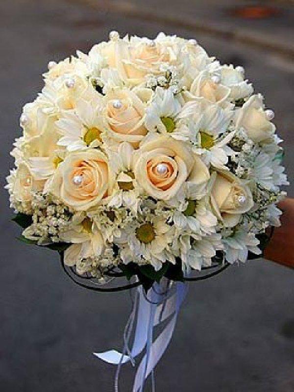 Модный свадебный букет