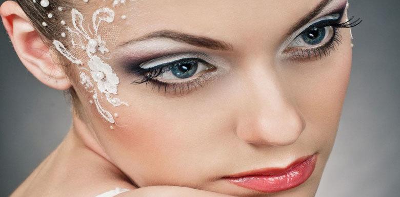 Свадебный макияж с украшениями